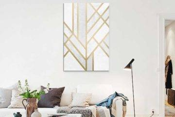 Salon-scandinave-Tableau-Art-deco-Geometry-de-Elisabeth-Fredriksson
