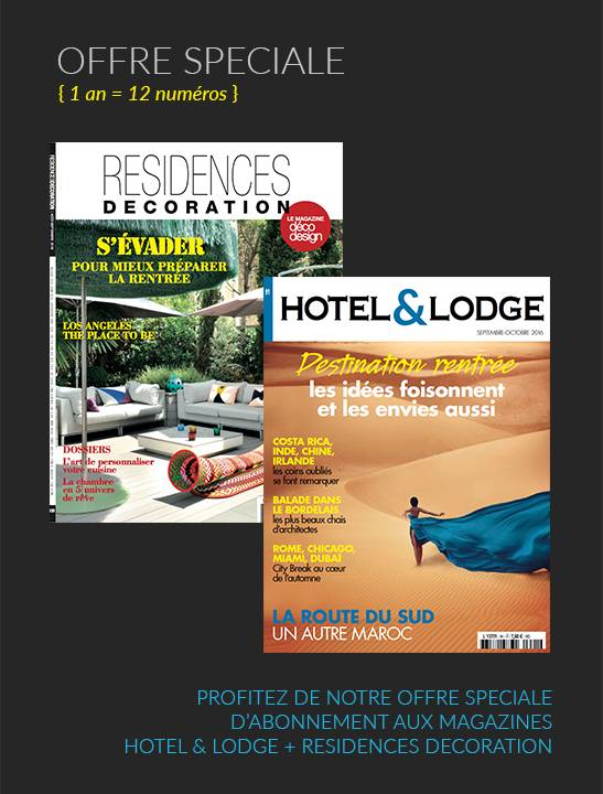 Abonnement 1 an hotel lodge r sidences decoration for Abonnement magazine design